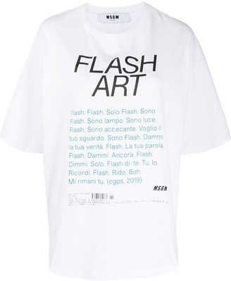 MSGM Flash Art print oversized T-shirt
