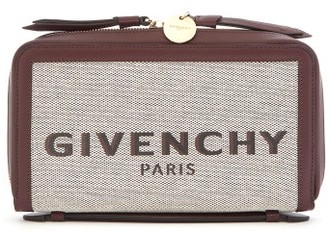 Givenchy Bond Logo-print Canvas Pouch - Womens - Cream Multi