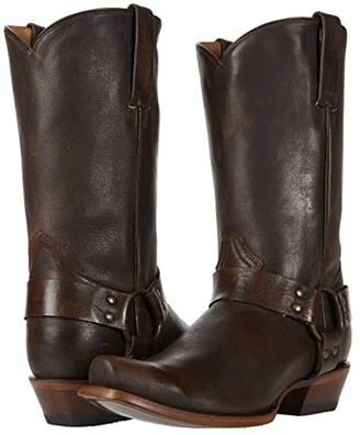 Roper Plain Ole Harness (Brush-Off Brown Leather) Cowboy Boots