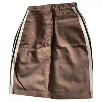 Gaultier Junior Brown Cotton Skirt for Women Vintage
