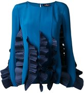 Capucci ruffled pleats blouse - women - Silk Crepe - 42