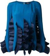 Capucci ruffled pleats blouse