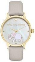 Kate Spade Women's 'Metro' Elephant Leather Strap Watch, 34Mm