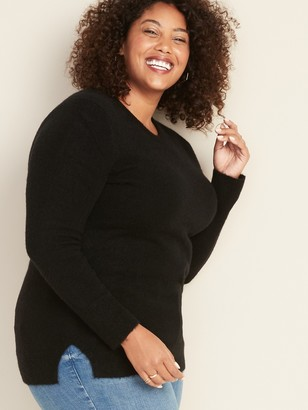 Old Navy Soft-Brushed Shaker-Stitch Plus-Size Sweater