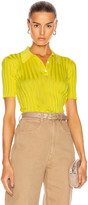 Victoria Beckham Slim Fit Polo Shirt in Bright Lemon | FWRD