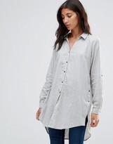 B.young Long Gray Shirt