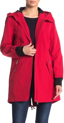 Calvin Klein Water-Repellent Hooded Softshell Jacket