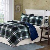 Comfort Classics Parkston Down Alternative Comforter Mini Set, Navy, Full/Queen