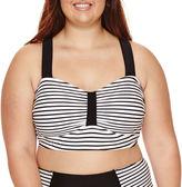 Arizona Summertime Stripe Bralette Swim Top - Juniors Plus