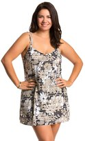 Penbrooke Plus Size Penthouse Sweet Double Strap Swimdress 8136170