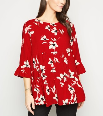 New Look Maternity Floral TiePeplum Blouse
