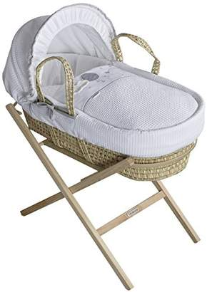Clair De Lune Moses Basket, Pink/Palm, Over The Moon