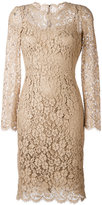 Dolce & Gabbana floral lace dress - women - Silk/Cotton/Polyamide/Viscose - 40