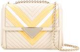 Sara Battaglia double chains shoulder bag
