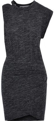 IRO Plush Cutout Ruched Stretch-jersey Mini Dress