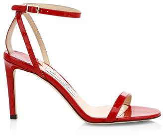 Jimmy Choo Minny Ankle-Strap Patent Leather Sandals