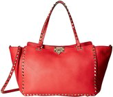 Valentino Icon) Rockstud Double Handle 1 (Women) - Red - One Size