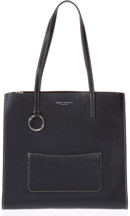 Marc Jacobs The Bold Black Leather Shopping Bag