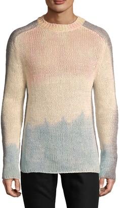 Balmain Tie-Dyed Silk & Linen-Blend Sweater