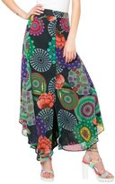 Desigual Women's Londinense Long Bright Chiffon Chiffon Skirt 38 UK 10