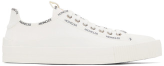 Moncler White Canvas Glissiere Sneakers