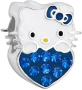 Hello Kitty Sterling Silver Crystal Birthstone Heart Bead