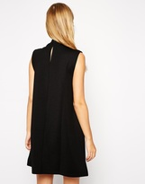 Asos A-Line Dress in Texture with High Neck