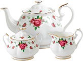 Royal Albert White Vintage 3-pc. Bone China Teapot Set
