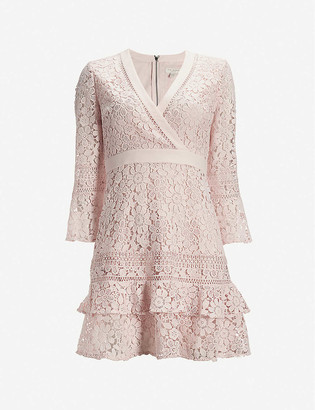 Ted Baker Nello V-neck lace mini dress