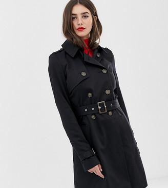 Asos Tall DESIGN Tall trench coat-Black
