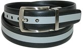 PGA TOUR Men's Reversible Grey Stripe Belt