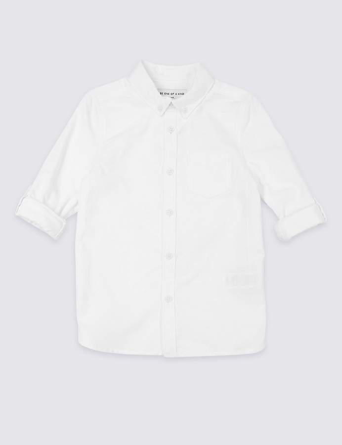 Marks and Spencer Pure Cotton Shirt (3 Months - 7 Years)