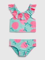 Gap Toddler Berry Ruffle Swim Two-Piece