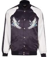 River Island Purple Jaded London Souvenir Bomber Jacket