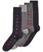 Tommy Hilfiger Men's 4 Pack Christmas Tree Socks