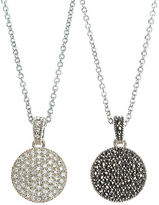 Judith Jack Crystal and Marcasite Pendant Necklace