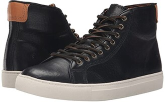Frye Walker Midlace (Black Tumbled Full Grain) Men's Lace up casual Shoes