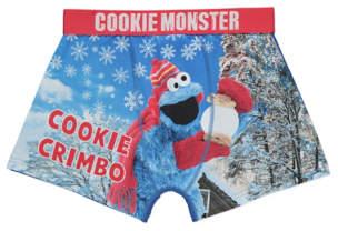 George Sesame Street Cookie Monster Christmas Trunks