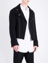 Ann Demeulemeester Biker-collar wool-blend jacket