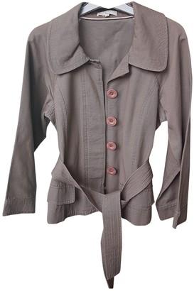 Essentiel Antwerp Brown Cotton Jacket for Women