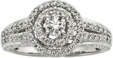 JCPenney MODERN BRIDE 3/4 CT. T.W. Certified Diamond 14K White Gold Vintage-Style Twist Bridal Ring