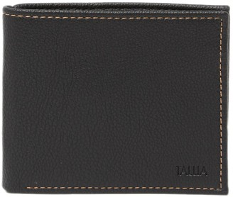 Tallia Bifold Leather Wallet with Embossed Interior