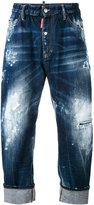 DSQUARED2 paint splatter loose fit jeans