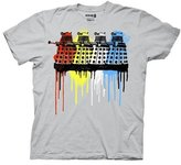 Ripple Junction Doctor Who Rainbow Daleks Mens Gray T-Shirt | M
