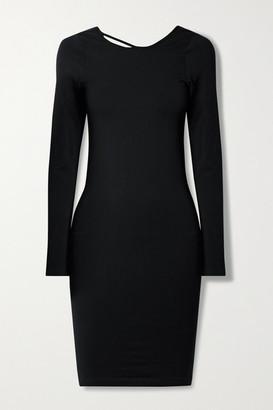 Helmut Lang Cutout Stretch-jersey Dress - Black