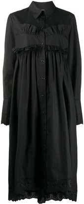 Simone Rocha Ruffle Trim Shirt Dress