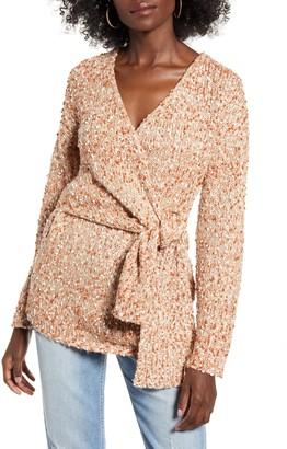 J.o.a. Boucle Wrap Sweater