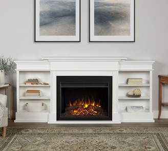 "Pottery Barn Ashton 92.5"" Grand Electric Fireplace Media Cabinet"