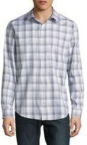 Calvin Klein Long-Sleeve Plaid Cotton Shirt