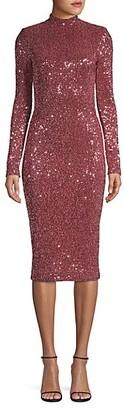 Rebecca Vallance Mona Sequin Midi Dress